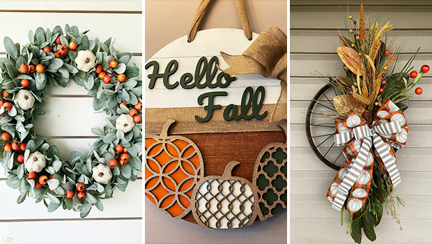 15 Wonderful Fall Wreath Designs That You Will Adore