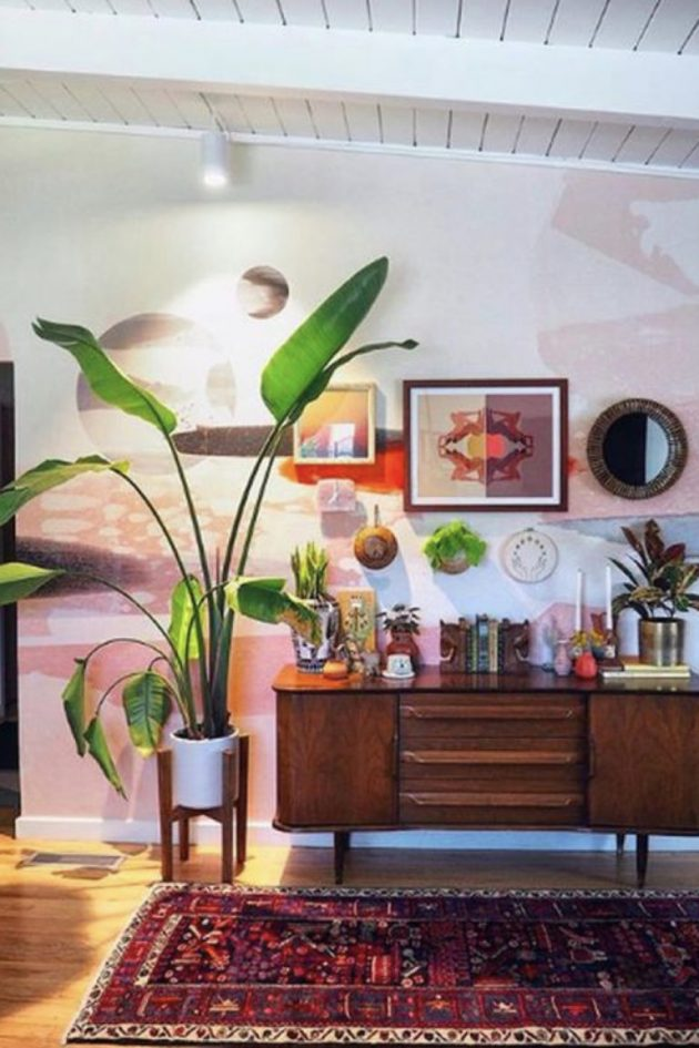 Green Plants And Vintage Furniture
