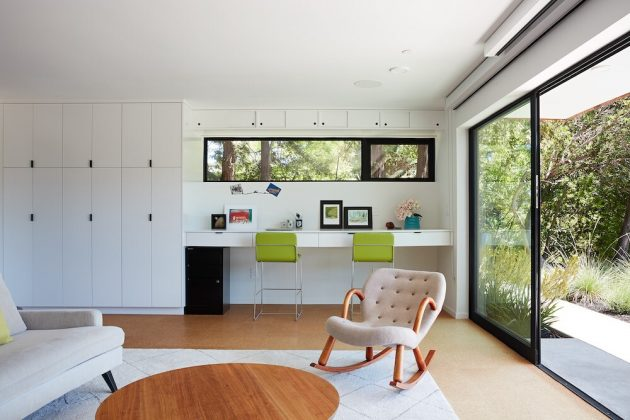Stanford Mid-Century Modern Remodel Addition by Klopf Architecture in California