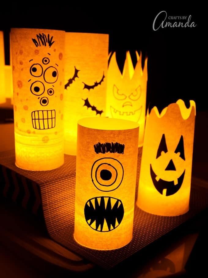 15 Dramatic But Cute DIY Halloween Luminaries You Need To Craft