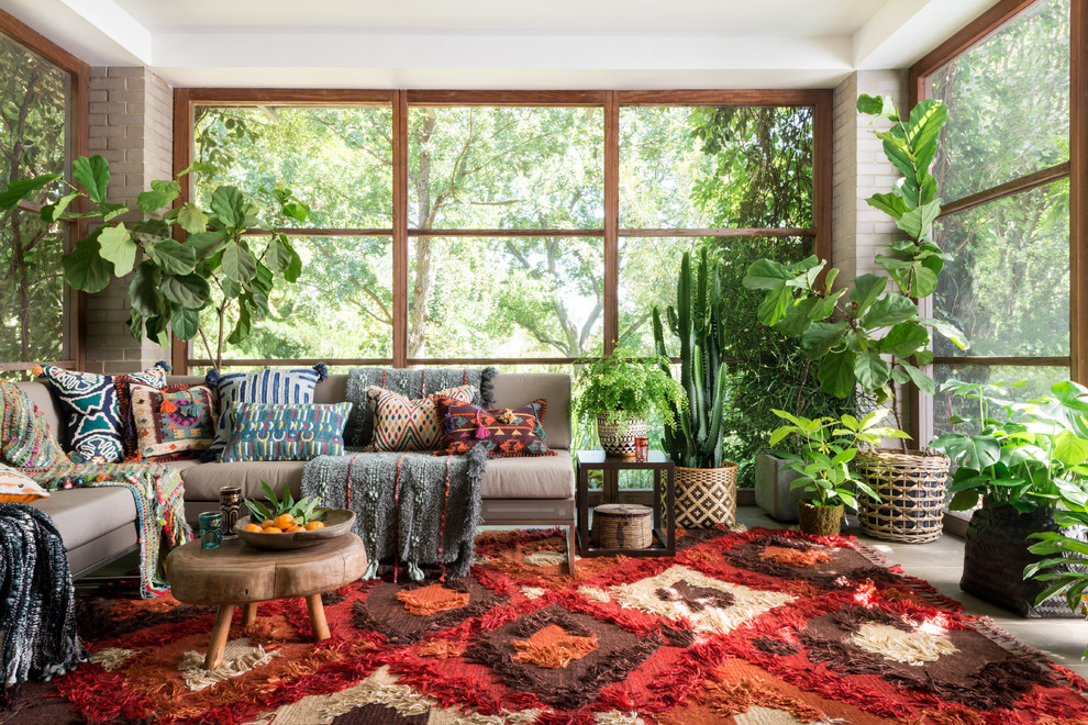 16 Bright & Colorful Eclectic Sunroom Designs