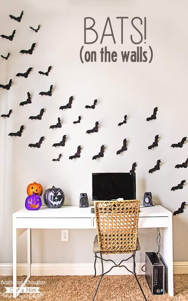 18 Eerie DIY Halloween Bat Decorations You Can Craft In 5 Minutes
