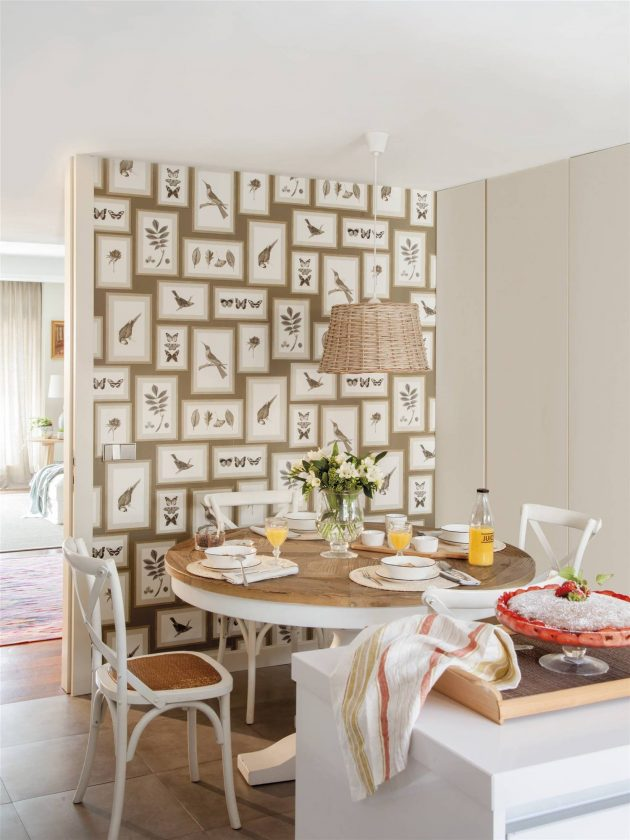A Classic Apartment With Wood, Wallpaper And Lots Of Warmth