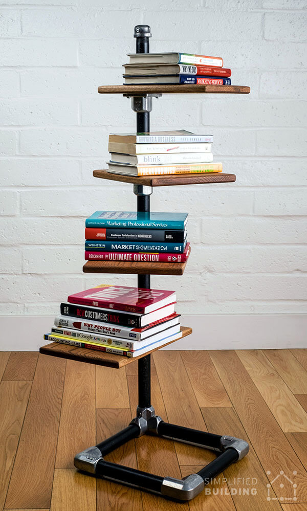 15 Awesome DIY Bookshelf Projects You'll Want To Build