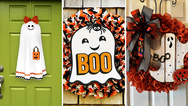 15 Halloween Ghost Wreath Designs That Are Super Scary Yet Cute