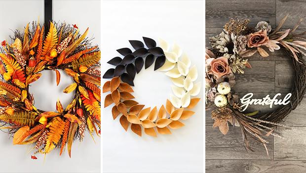 18 Enchanting Thanksgiving Wreath Designs For November