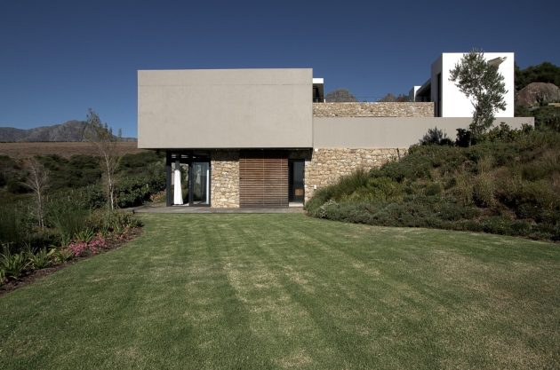 Hillside Residence by GASS Architecture Studios in Stellenbosch, South Africa