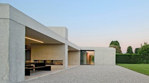 House Surrounded by Greenery by MIDE Architects in Stra, Italy